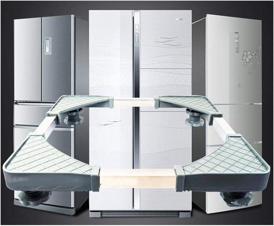 Pedestales Multifuncionales De Servicio Pesado Con 4 Pies Fuertes Para Refrigerador/Lavadora/Secadora Grandes, Altura Ajustable, Carga Máxima 551 Lb, 4.5X15.2X7.7in