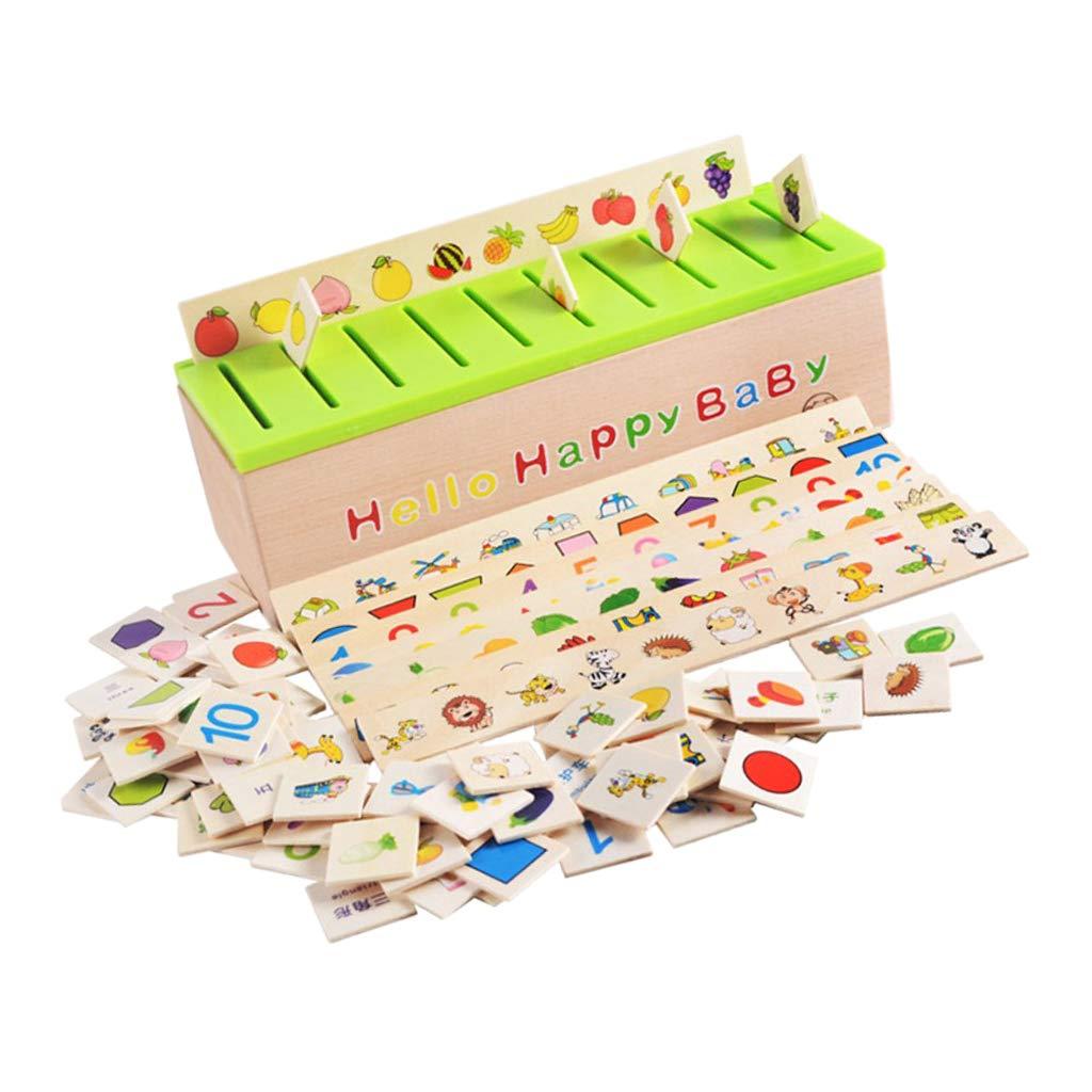 PETSOLA Montessori Juegos de Madera Carton 3D Clasificación ...