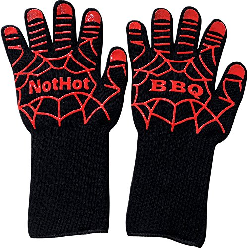Smart138 BBQ Gloves, 932°F Extreme Heat Resistant Oven Grill Glove for Cooking, Grilling, Baking by Smart138