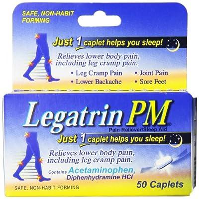 Legatrin PM Pain Reliever/Sleep Aid, Caplets