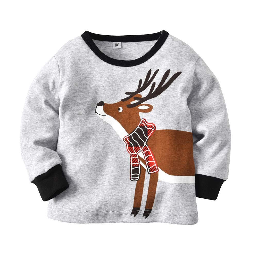 Cheamlion Toddler Baby Kids Boys Girls Davids Deer Christmas Pajamas and Pant