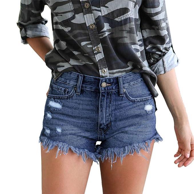 FELZ Pantalones Mujer Pantalones Cortos Mujer Vaqueros ...
