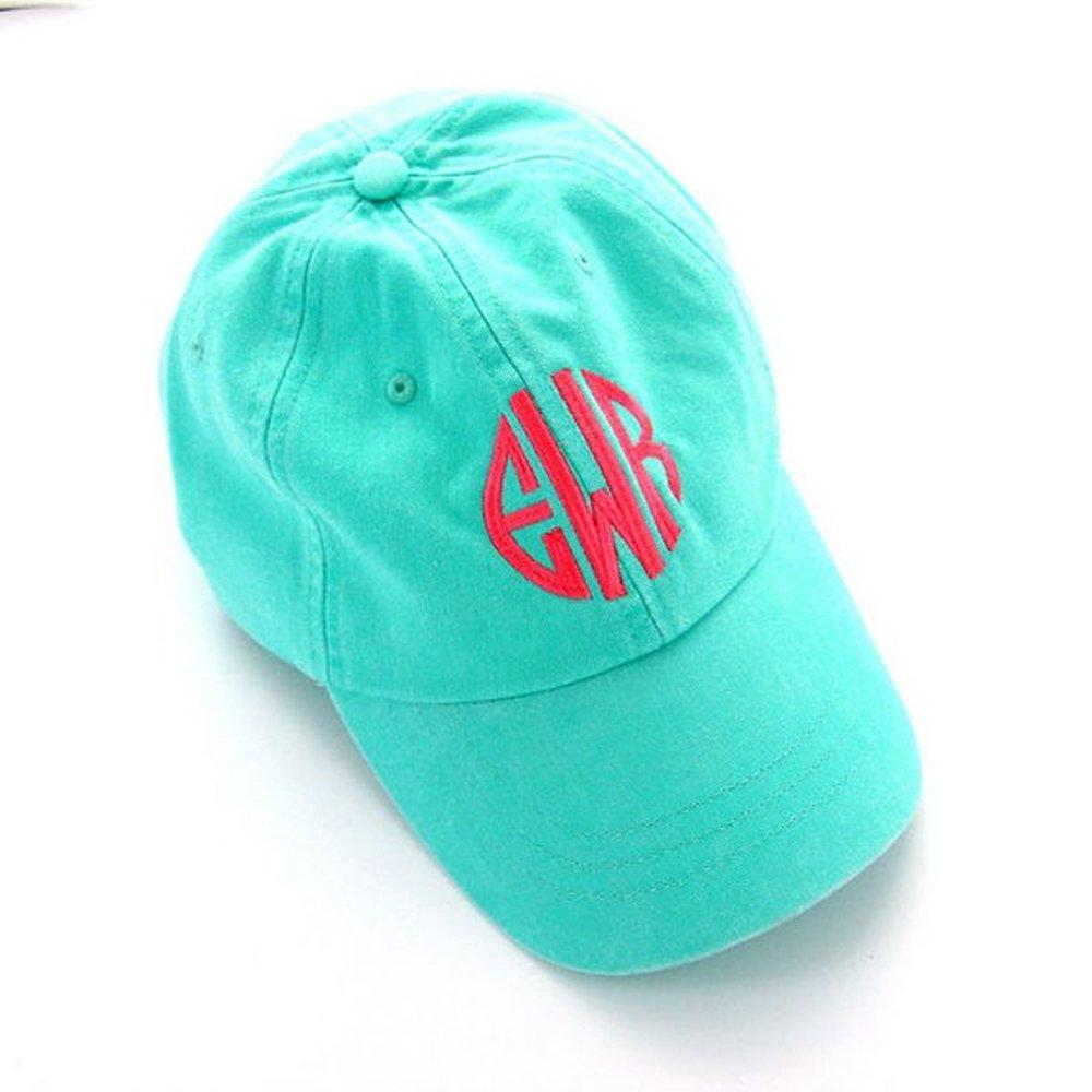 0f9f3073abee7e Mary's Monograms Woman's Monogrammed Mint Green Baseball Cap at Amazon  Women's Clothing store: