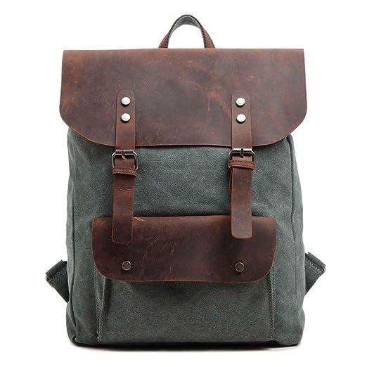 78 opinioni per DRF Zaino Casual porta laptop/pc tablet in Tela e Pelle Vintage Altezza 45cm
