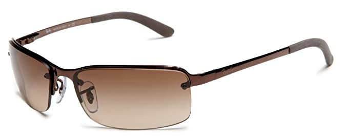 86872f4431 Ray Ban Rb 3217 014 13 Shiny Brown W  Brown Gradient Lens Sunglasses   Amazon.co.uk  Clothing