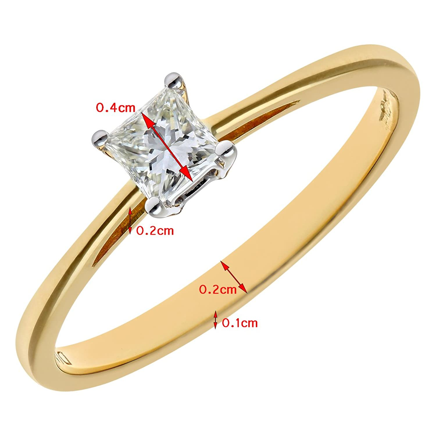 Naava 18ct Yellow Gold Solitaire Engagement Ring JI Certified