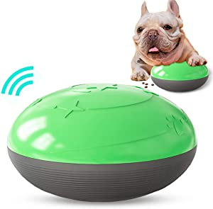 N/D Dog Toy Ball, Non-Toxic bite Resistant Toy Ball for pet Dog Puppies, Sounding Toy Leaking Food Rattle Ball Puzzle Slow Food Bowl
