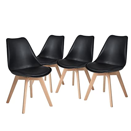 amazon com h jwedoo modern dining chairs set of 4 tulip kitchen
