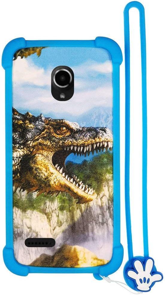 Funda para Selecline Smartphone 865064 Ecran 4 Pouces Funda Silicone Border + Placa Dura de la PC Stand Carcasa Case Cover L: Amazon.es: Electrónica