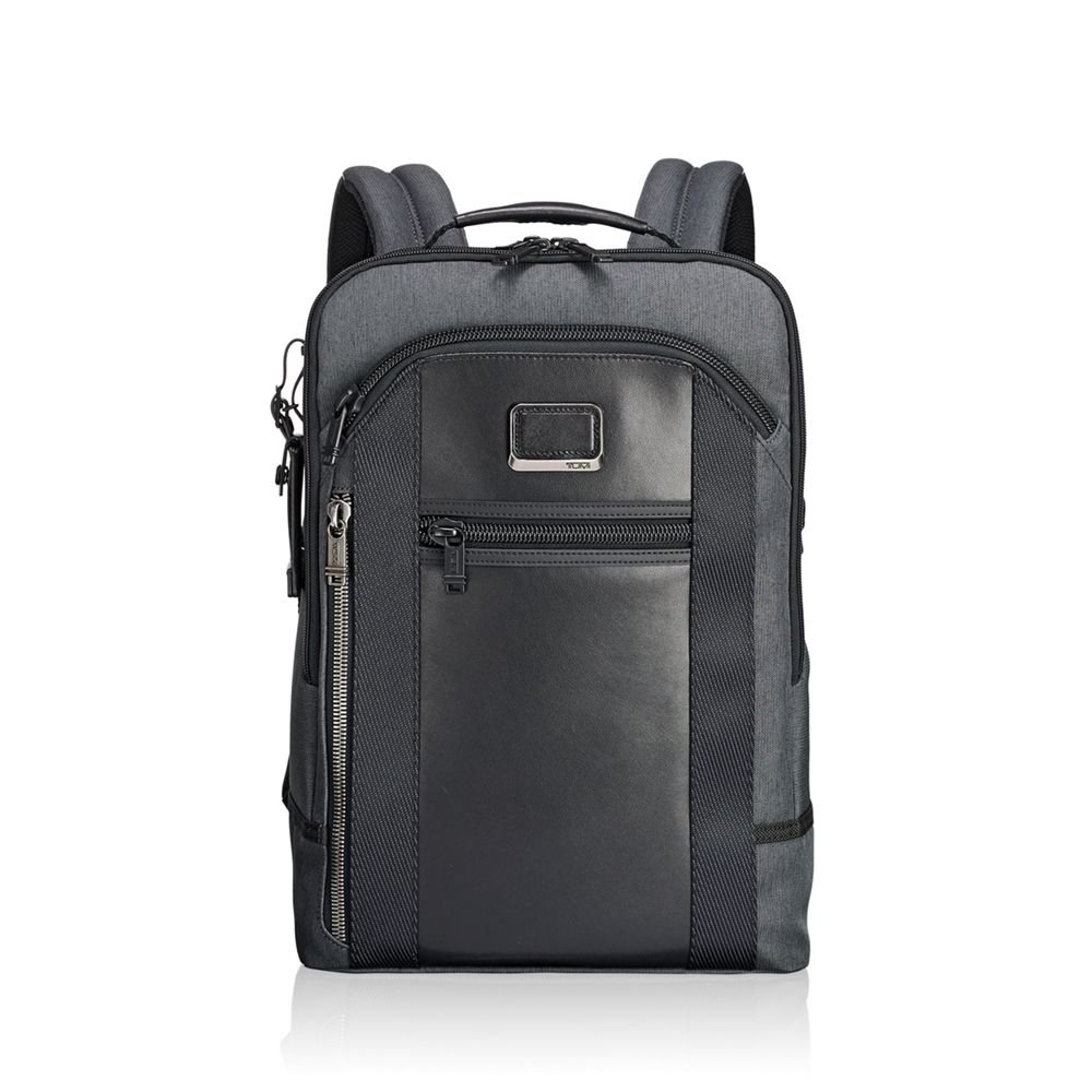 Tumi Men's Alpha Bravo Davis Backpack, Anthracite