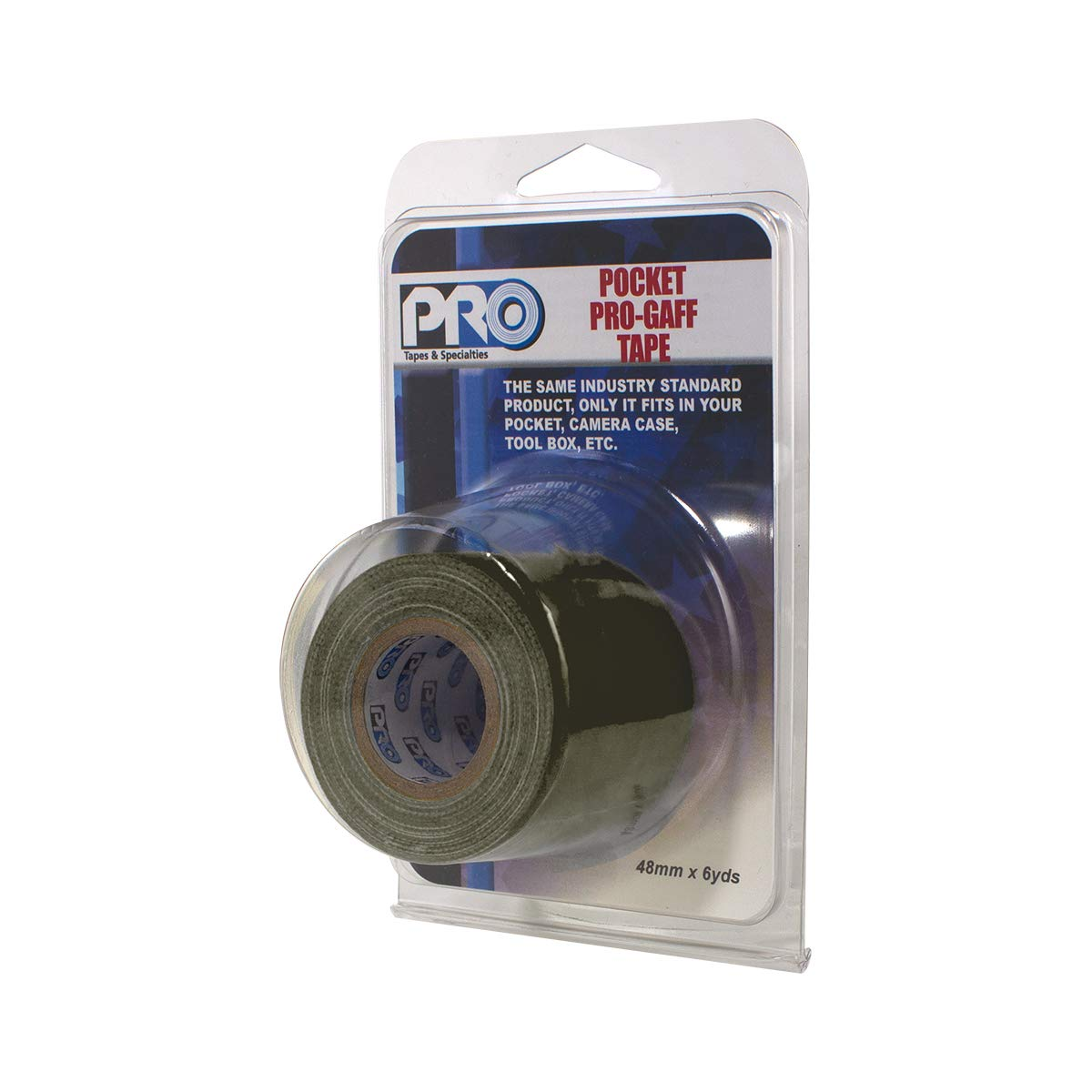 Made in The USA 48mm Holds Tight Pocket Size Gaffers Tape Easy to Remove. x 6 Yards Length Olive drab Matte Pro Tapes Pocket Gaff Tape 2 inch
