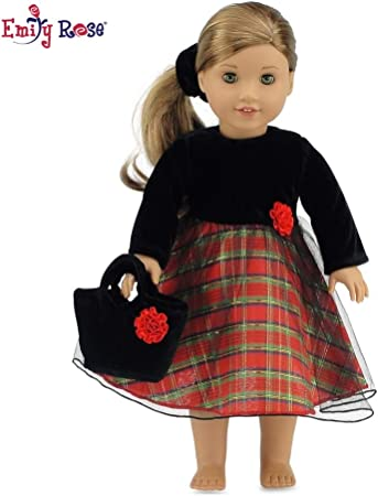 """Black with White Polka Dot Shoes made for 18/"""" American Girl Doll Clothes"""