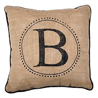 NicholasCGShopOnline C8083F Cotton Linen Decorative Throw Pillow Case Cushion Cover B black letters 18  X18