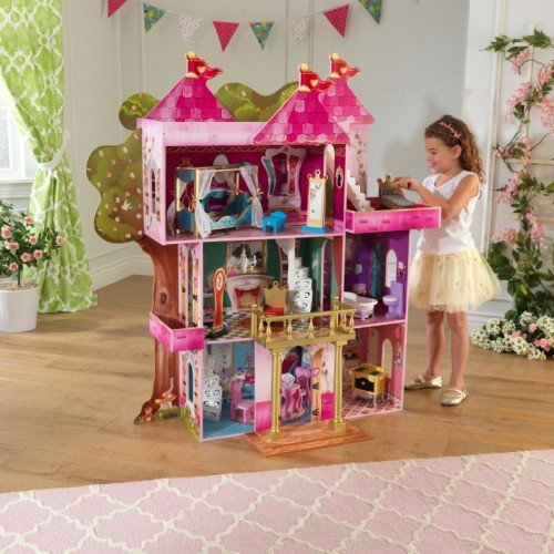 KidKraft Storybook Wooden Mansion with 14 Pieces of Furniture by KidKraft (Image #2)