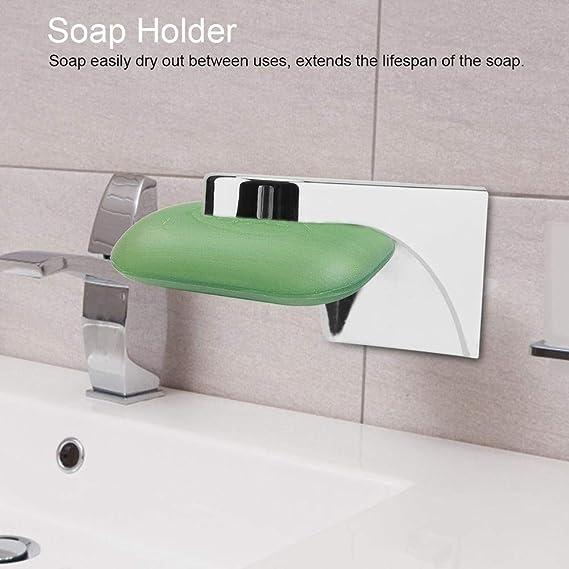 SANTOO Magnetseifenhalter Magnetische Seifenschale f/ür Wandmontage Seifenkiste Magnet Seifenhalter f/ür Badezimmer Sauber Bequem und Umweltfreundlich