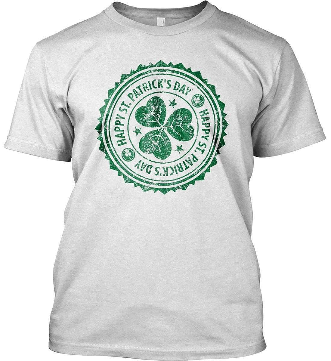 Happy St Patrick\s Day Irish T-Sh Made in USA T. Patricks Day Grunge St