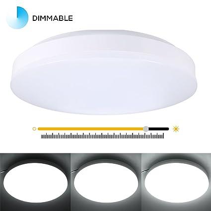 Flush Mount LED Ceiling Lights, TryLight 12W, 1000 Lumens, 11.4-inch ...