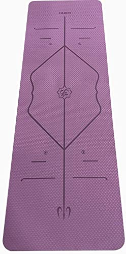 EADEN Premium 6mm Thick Yoga Mat and Fitness Mat, Ultimate Density for Cushion, Support and Stability, TPE Specifications, with Carry Strap and Carry Bag