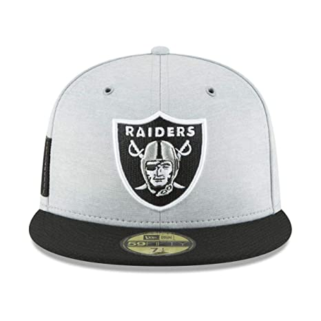 Amazon.com  New Era Oakland Raiders 2018 NFL Sideline Home 59FIFTY Fitted  Hat – Heather Gray Black  Sports   Outdoors 2f96b749f5f5