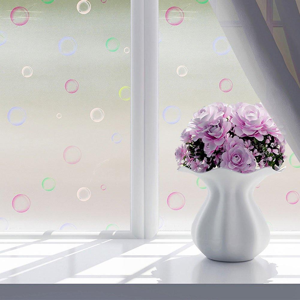 SDYDAY vetro film adesivi sticker, 60x 200cm bagno porta di vetro finestra film Flower privacy UV prevenzione Home Decor, Come da immagine, jungle small tree
