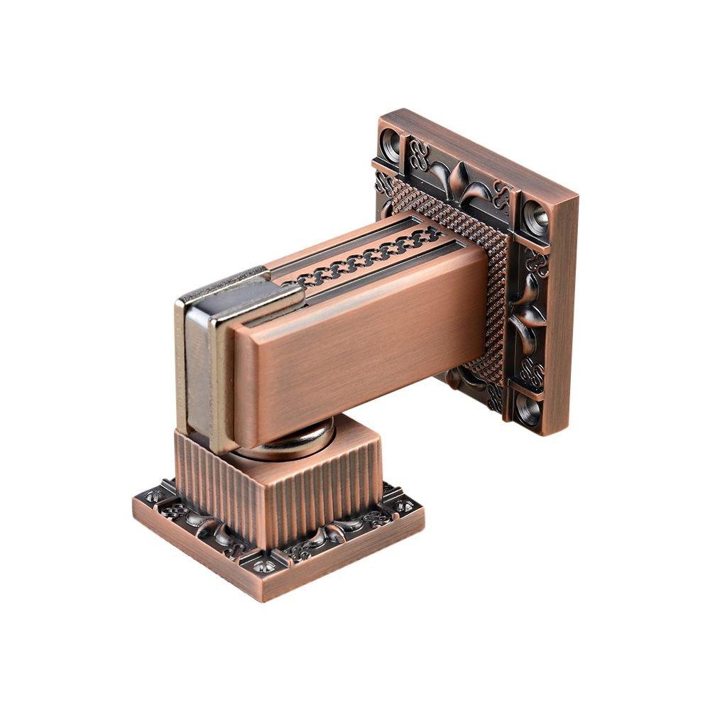 Zhi Jin 1Pc Vintage Thick Magnetic Door Stopper Security Heavy Duty Doorstop Holder Catch Red Bronze