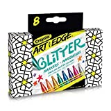 Crayola Art With Edge Glitter Markers,  Adult Colouring, School and Craft Supplies, Drawing Gift for Boys and Girls, Kids, Teens Ages  5, 6,7, 8 and Up, Holiday Toys, Stocking Stuffers, Arts and Crafts