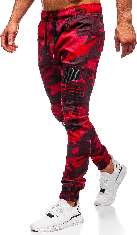 BOLF Hombre Pantalón De Chándal Jogger Pantalones Deportivos Dise?o Camuflaje Pantalón de Algodón Estilo Urbano Mix 6F6