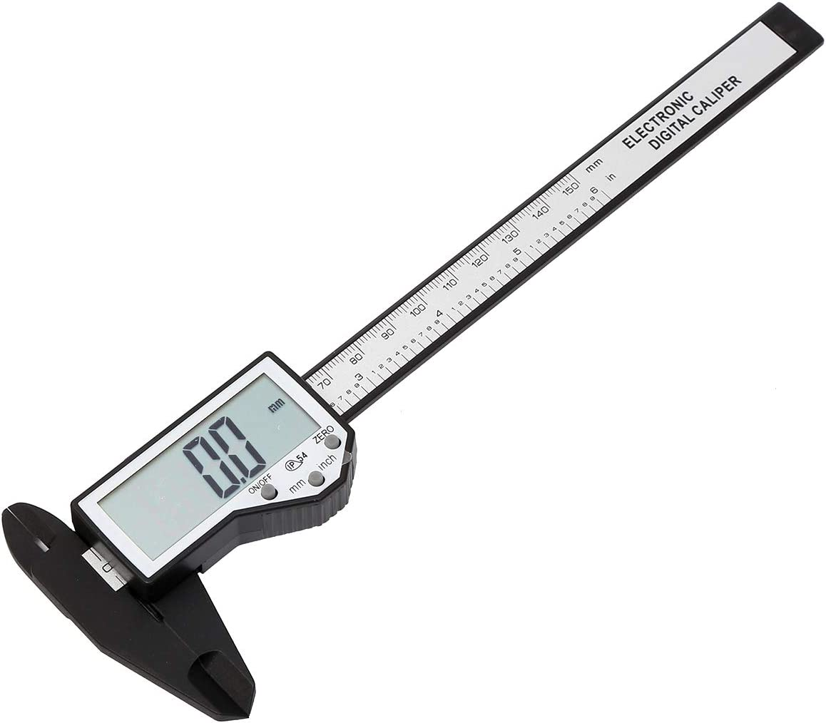 KATSU Fibre Carbon Digital Vernier Caliper Grand /écran 0-150mm