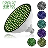 Danti Led Swimming Pool Light Bulb Replacement for Most Pentair Hayward Light Fixture - 120V 35W RGB Color