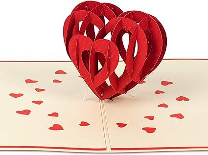 PaperCrush® Tarjeta pop-up Amor Corazón – Tarjeta de cumpleaños 3D ...