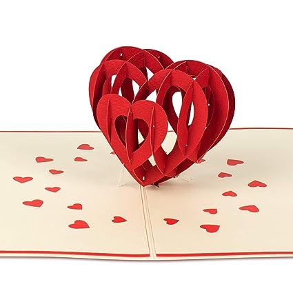PaperCrush® Tarjeta pop-up Amor Corazón - Tarjeta de ...