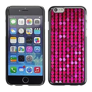 For Apple iPhone 6 Plus(5.5 inches)Case , Pattern Pink Purple Dots Bright - Diseño Patrón Teléfono Caso Cubierta Case Bumper Duro Protección Case Cover Funda