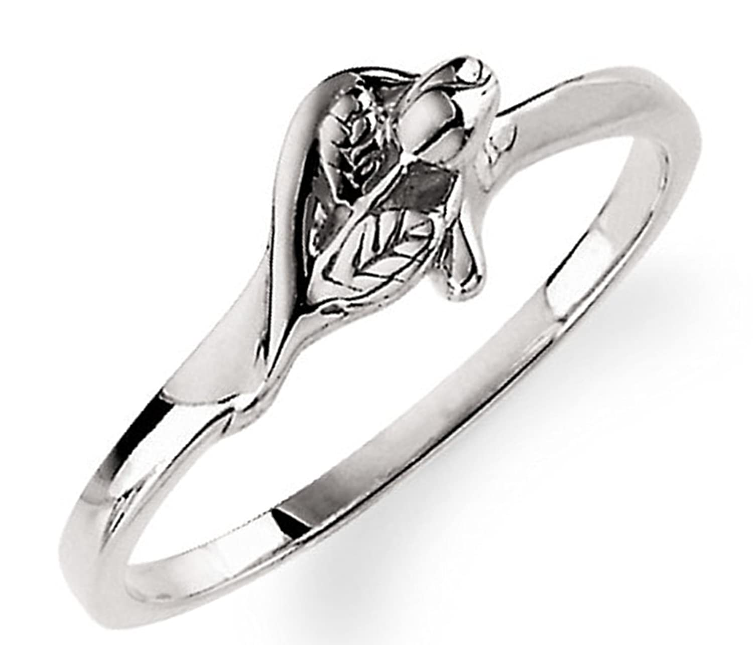 'Unblossomed Rose' Sterling Silver Chastity Ring