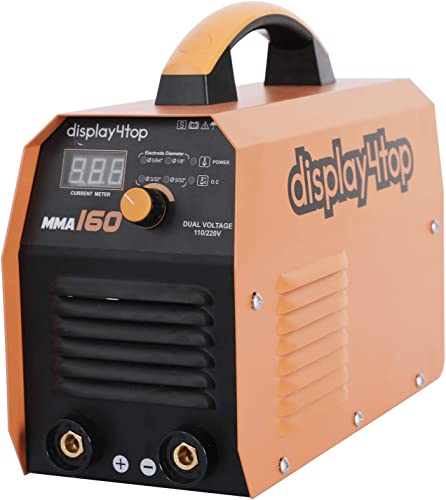 Display4top MMA-160,160 Amp Stick ARC IGBT Digital Inverter DC Welder,Digital Display 110V 220V Dual Voltage Input Welding Machine