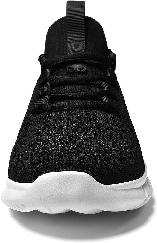 LK LEKUNI Chaussures de Sport Running Basket Homme Femme Course Trail Entraînement Fitness Tennis Respirantes Noir01