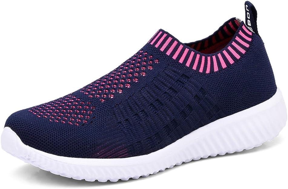 4. TIOSEBON Women's Athletic Walking Shoes Casual Mesh-Comfortable Work Sneakers