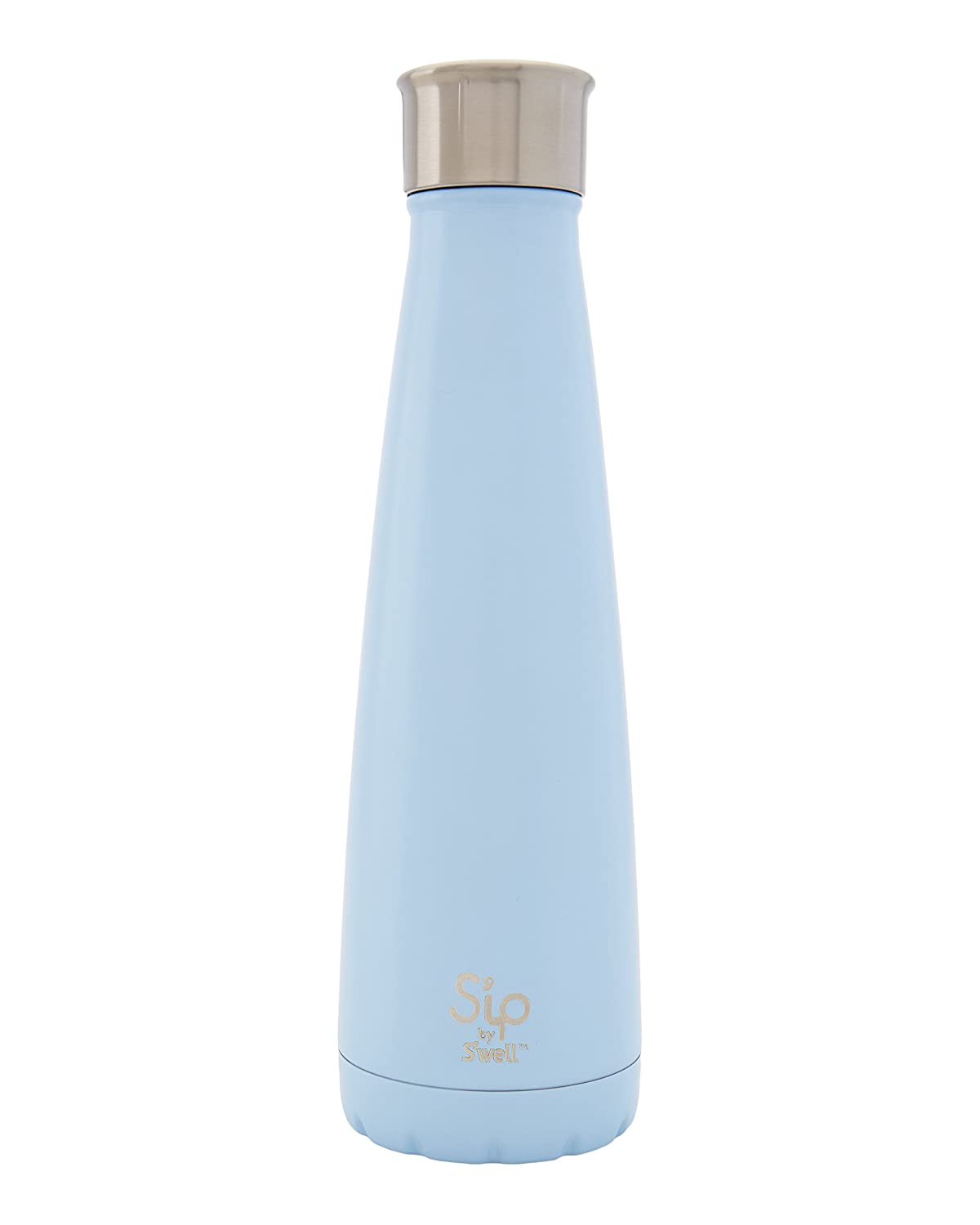 S'ip By S'well Vacuum Insulated Stainless Steel Water Bottle, Double Wall, 15 Oz, Cotton Candy Blue by S'well