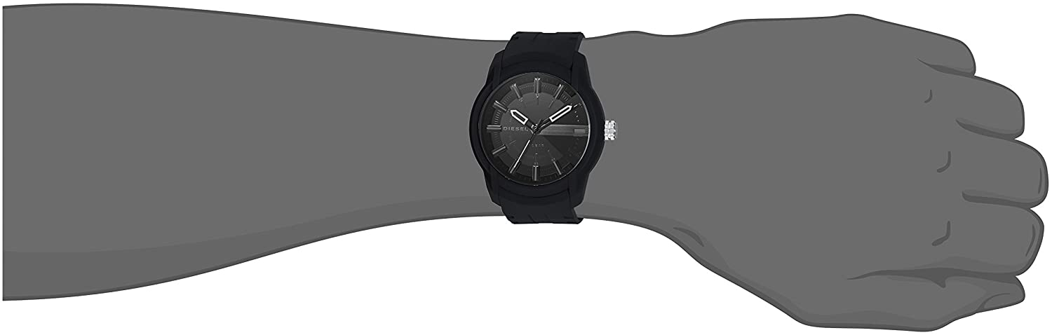 Amazon.com: Diesel Mens Armbar Silicone Casual Watch, Color: Black (Model: DZ1830): Diesel: Watches