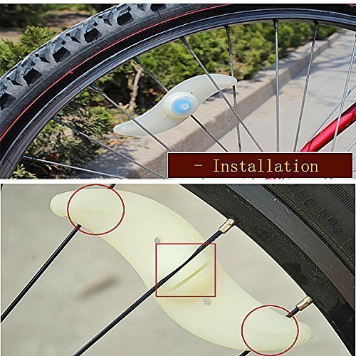 cheap agooding 4pièces multicolore voiture vélo Roue Valve du pneu bonnet rayons Néon LED Lampe/Lampe de sécurité pour rayons de roue de rayons lumineux rayons de vélo/LED/LED lumi&eg