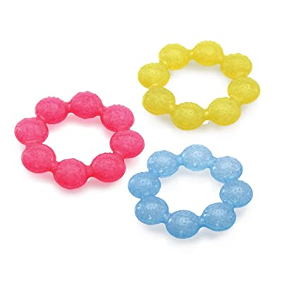 Nuby IcyBite Soother Ring Teether, Colors May Vary: Toys & Games