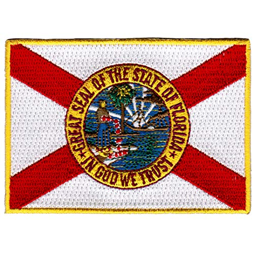 Florida State Flag Embroidered Patch Iron-On FL ()