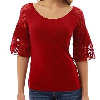 Mujer Camiseta – camisa – Camisa – Feixiang® Mujer Casual Top Shirt Sudadera con capucha