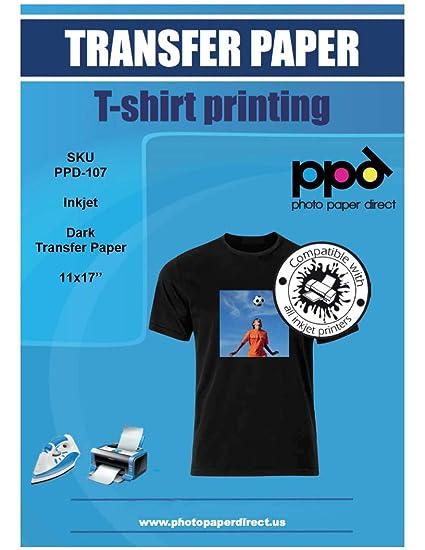 Amazon.com: PPD - Lote de 10 hojas de papel para camiseta de ...