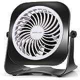 OPOLAR 4 Inch Mini USB Desk Fan, 2 Speeds White+Black …
