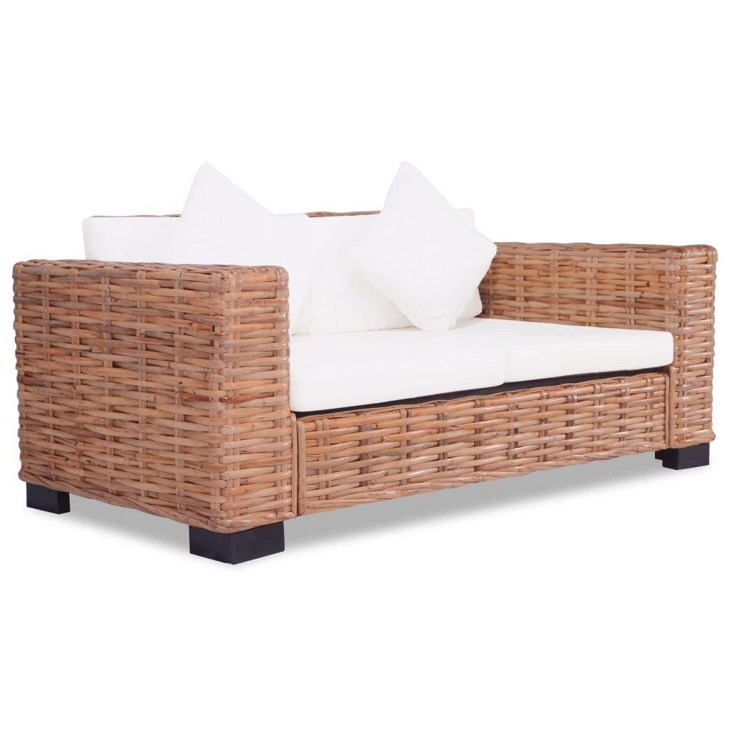 WEILANDEAL Sofa de Dos plazas de Ratan Natural Sofas ...