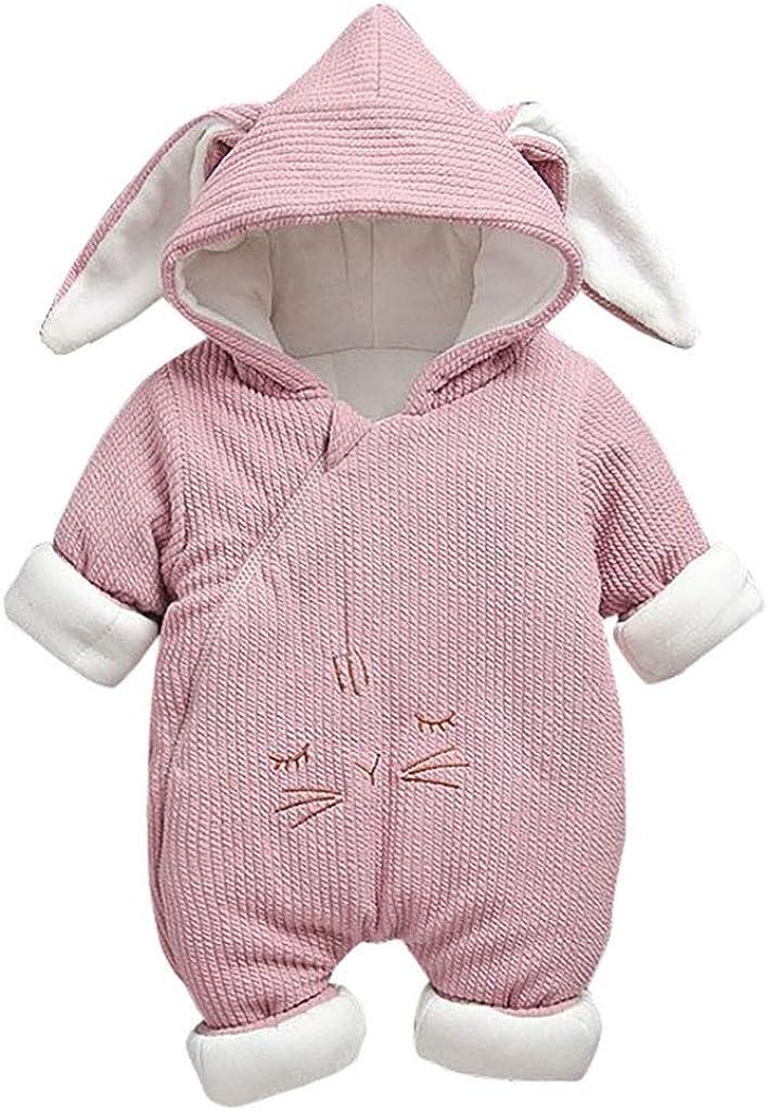 Mono Algodón Recién Nacido Bebé, Ropa Bebe Invierno Cosas para Bebes Recien Nacidos Dibujos Animados con Capucha Oreja, Conjunto Primera Puesta Bebe (Rosa, 2-6 M): Amazon.es: Ropa y accesorios
