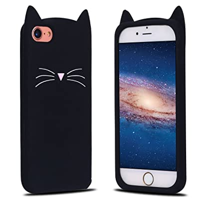 Funda iPhone 8, Carcasa iPhone 7, RosyHeart Patrón de Gato ...
