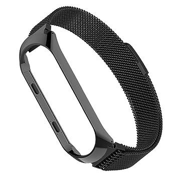 Simpeak Correa Compatible Xiaomi Mi Band 3 (5.5-6.7 Pulgadas),Pulseras de Acero Inoxidable Wristband Repuesto Bandas Xiaomi Mi Band 3 Fitness con ...