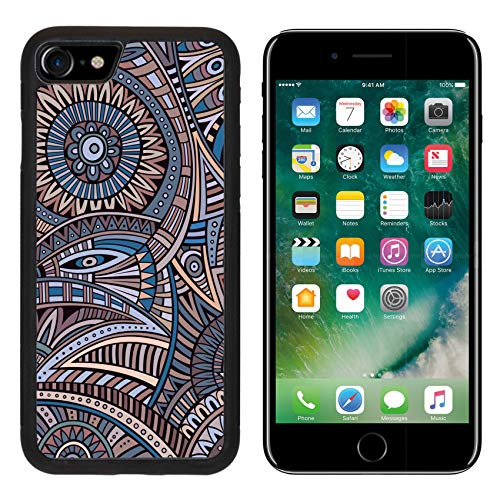 (Luxlady Apple iPhone 8 Case Aluminum Backplate Bumper Snap iPhone8 Cases Image ID: 37677576 Abstract Vintage Deco Vector Tribal Ethnic Background)