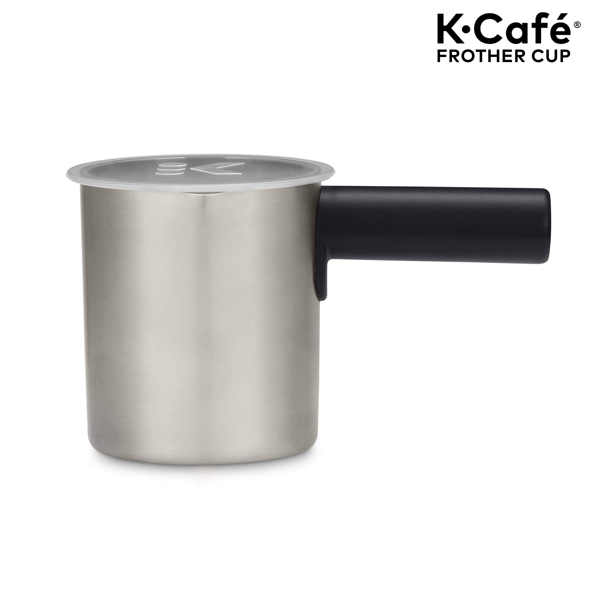 Keurig K-Café Milk Frother, Works with all Dairy and Non-Dairy Milk, Hot and Cold Frothing, Compatible with Keurig K-Café Coffee Makers Only, Dark Charcoal